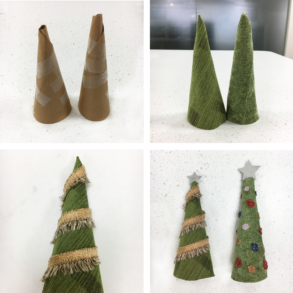 Fabric Christmas Tress